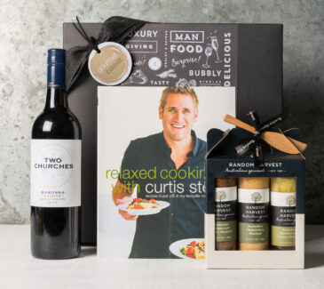 Curtis Stone cookbook and gourmet gift set from Gourmet Basket
