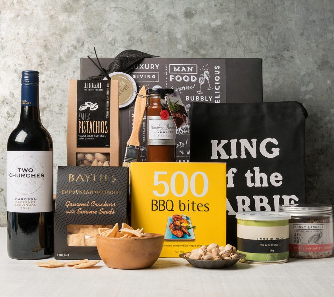 BBQ lovers gift hamper including BBQ recipe book from Gourmet Basket