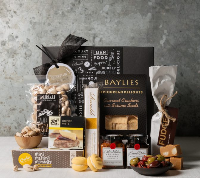 Boxed treats gift basket | Gift Hampers from Gourmet Basket. Gourmet food hamper. Food hamper delivery.
