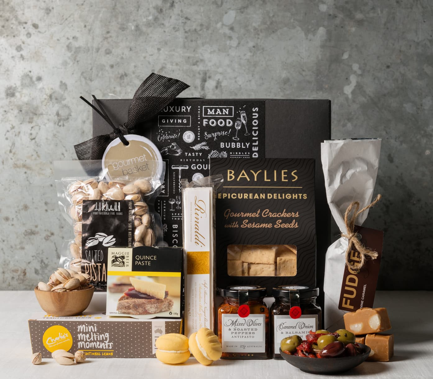 Give a lovely boxed treats gift basket from gourmet basket boxed treats negle Choice Image