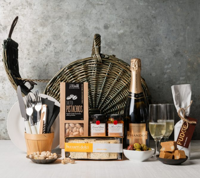 Champagne Picnic Basket for Two