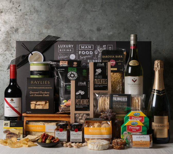 Cheese and Wine office share gift basket. Gift Hampers from Gourmet Basket. Corporate gifts. Corporate hamper delivery.