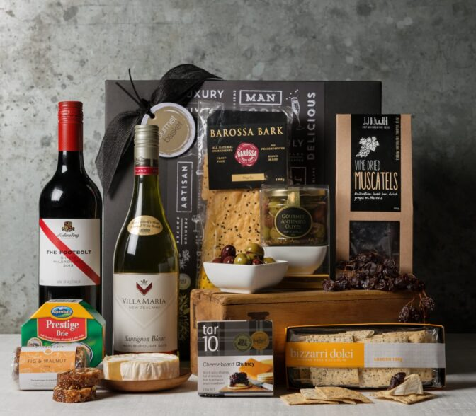 Premium Wine and Cheese Gift Set. Gift Hampers from Gourmet Basket