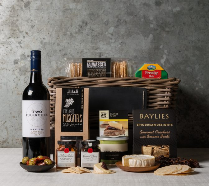 Premium Cheese and Wine Gift Set. Gift Hampers from Gourmet Basket