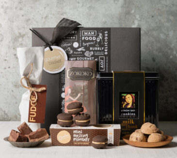 Chocolate box gift basket from Gourmet Basket