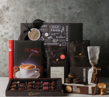 Coffee lovers gift. Gift Hampers from Gourmet Basket. Coffee and chocolate gift hamper.