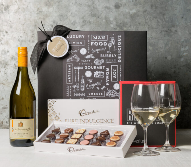 Say congratulations with white wine! Browse our stunning range of gourmet gift baskets for food lovers from Gourmet Basket
