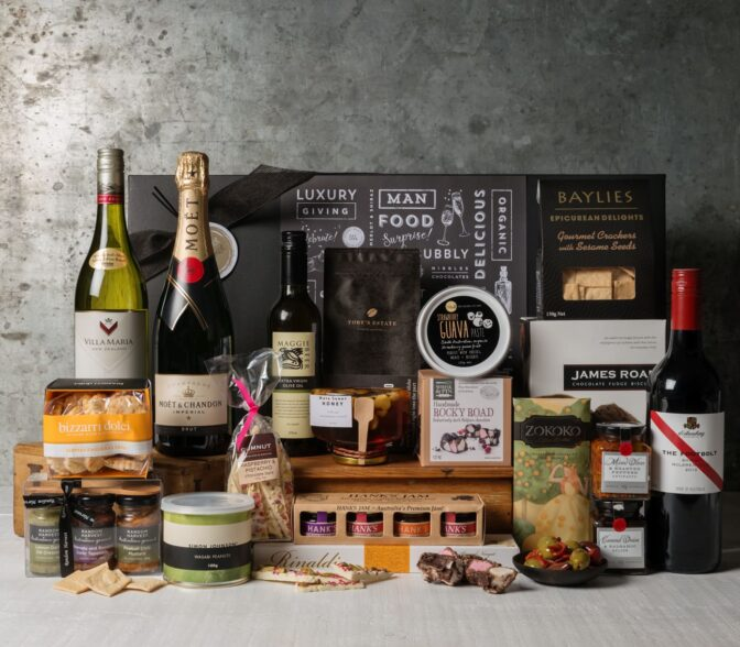 Premium Wine Gift Set. Gift Hampers from Gourmet Basket. Corporate Hamper. Corporate gift basket.