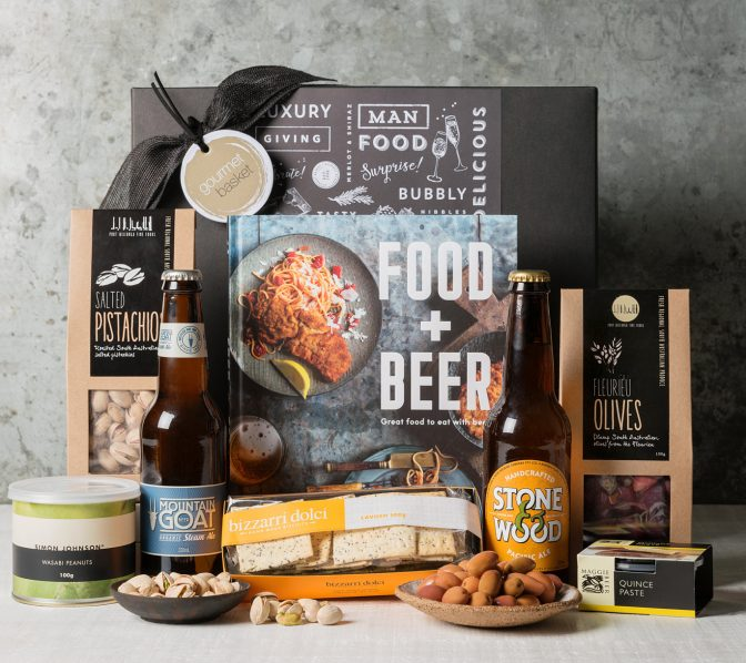 Food and Beer Hamper, mens gifts from Gourmet Basket