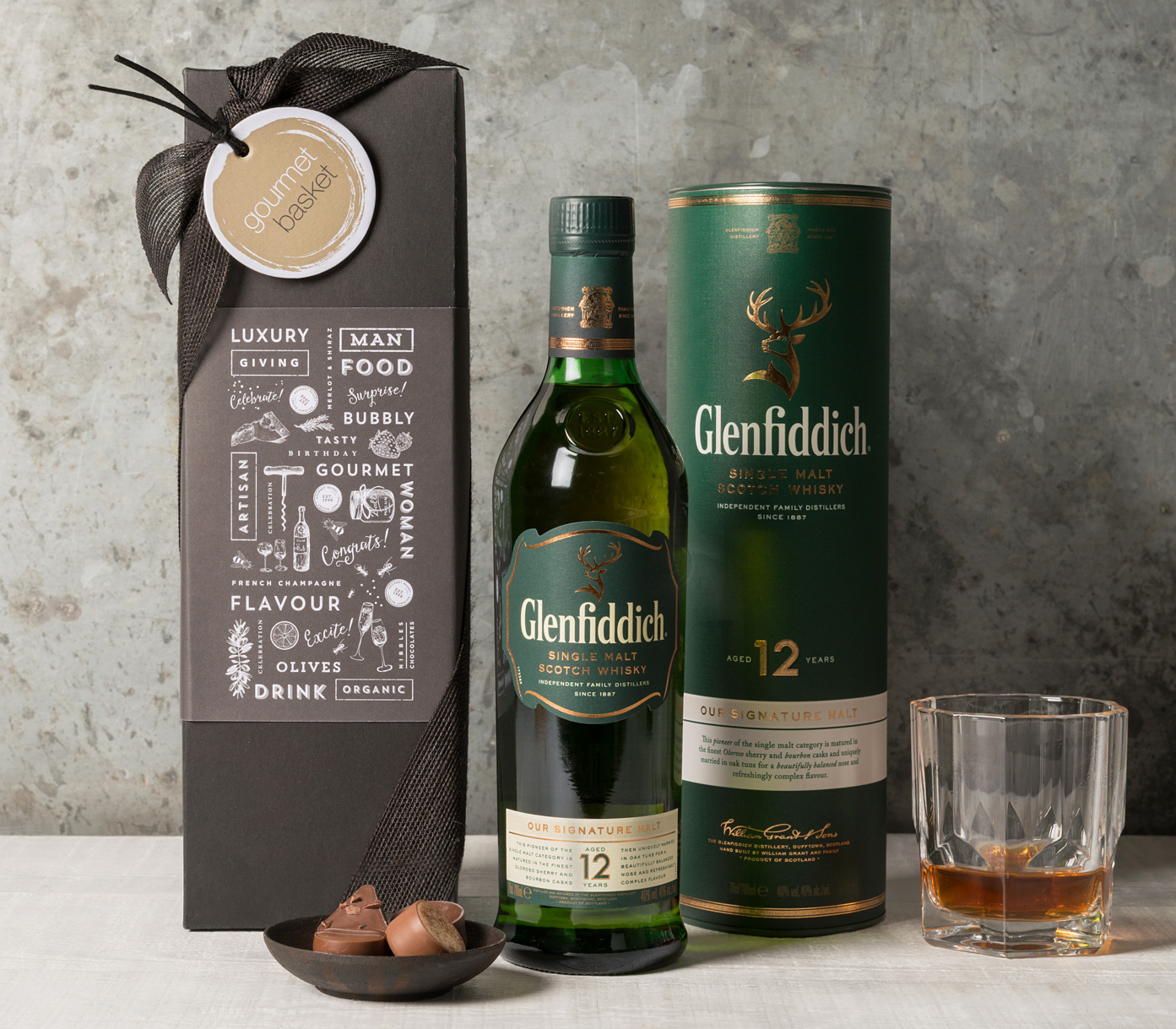 Glenfiddich 12 Yr Old Scotch Whisky | Spirits and Cocktails Gifts | Gourmet Basket