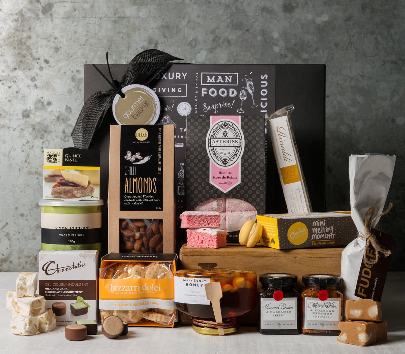 Non alcoholic gift baskets gourmet hamper no alcohol gourmet gift hampers from gourmet basket food gift hamper food negle Choice Image