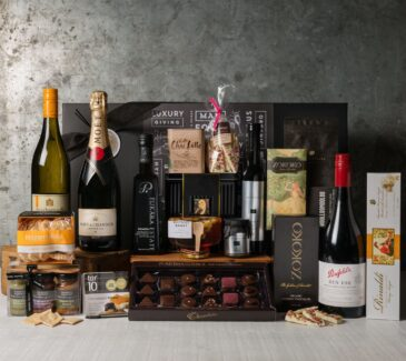 Premium Wine ad Food Gift Set. Gift Hampers from Gourmet Basket