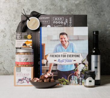 Manu's French Kitchen Cookbook Gift hamper from Gourmet Basket