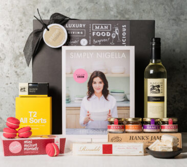 Nigella Lawson's cookbook and gourmet gift hamper