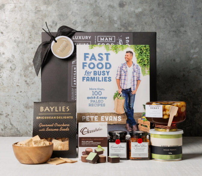 Fast Food For Busy Families, Pete Evans gourmet gift hamper