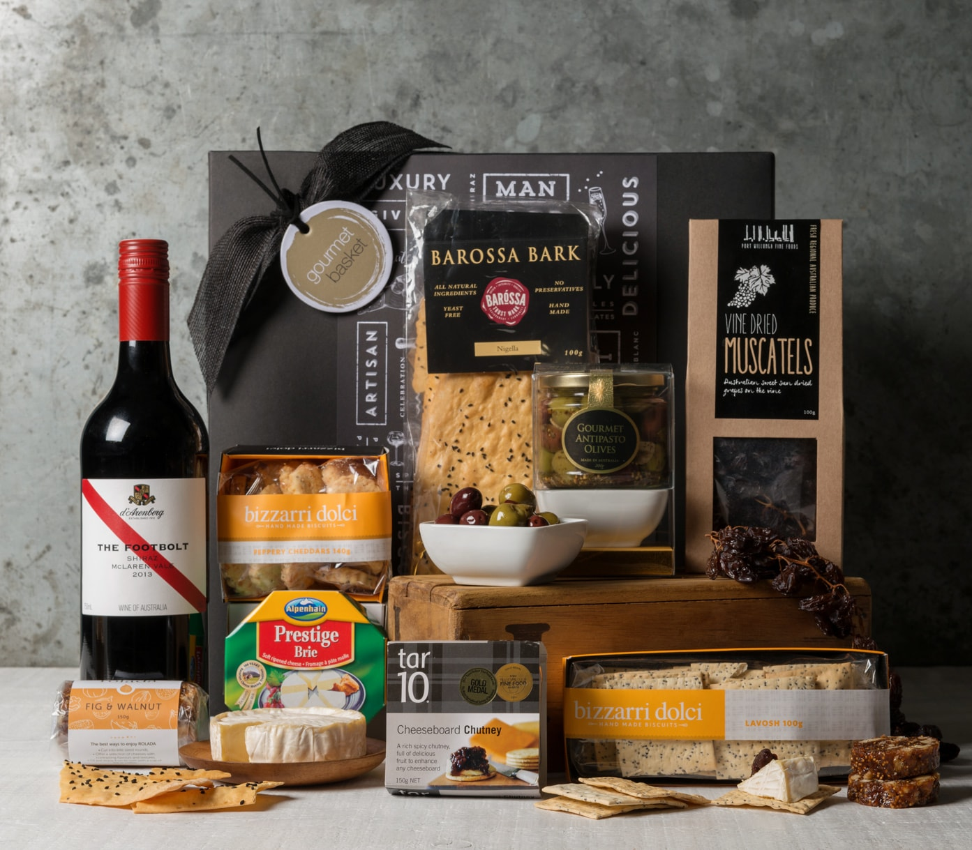 Wedding Gift Hampers Sydney : Premium Cheese and Wine Gift Basket Hamper