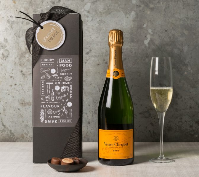 Veuve Cliquot Champagne Gift | Celebration Gift | Congratulations Gift | Gourmet Basket