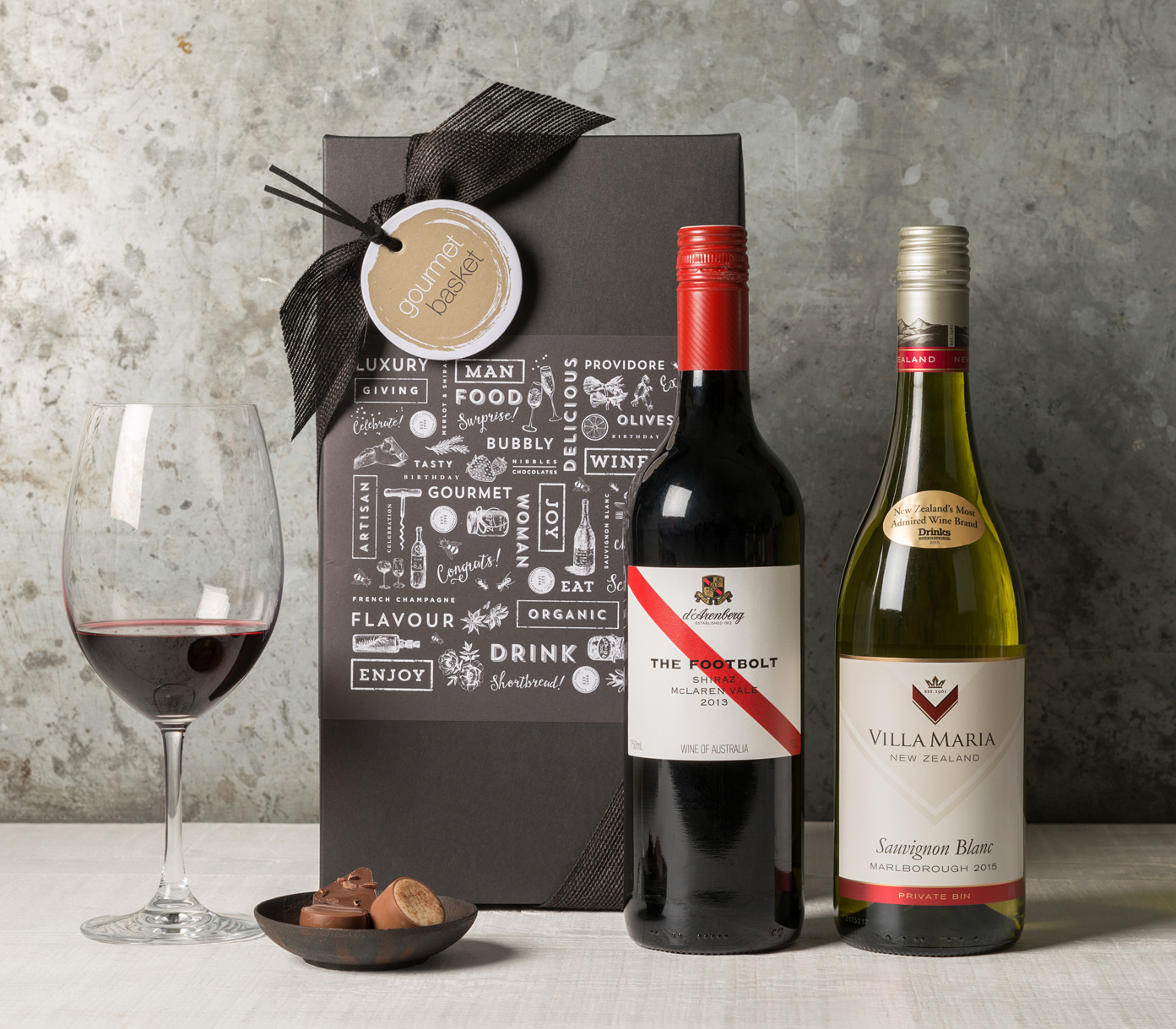 Wedding Gift Delivery Sydney : Wine Duo in Gift Box (From USD55.00) Gift Basket Hamper