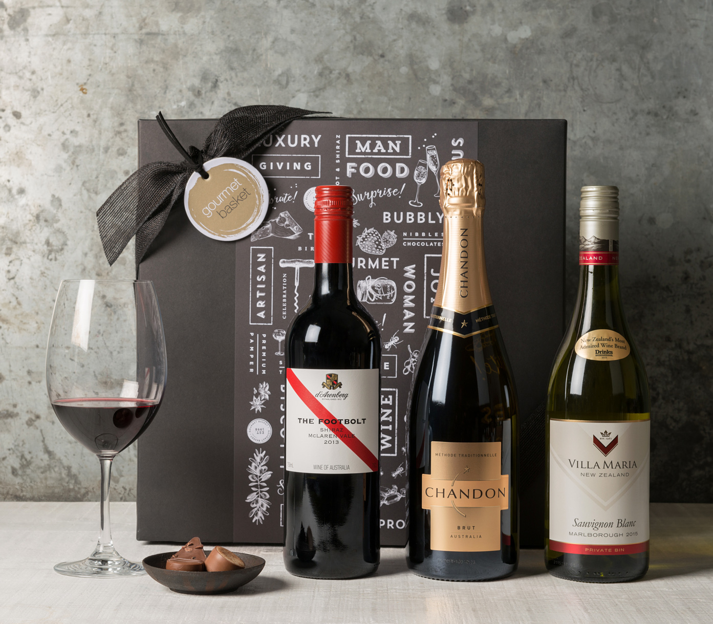 Wine Trio | Wine & Champagne Gift Hampers | Gourmet Basket