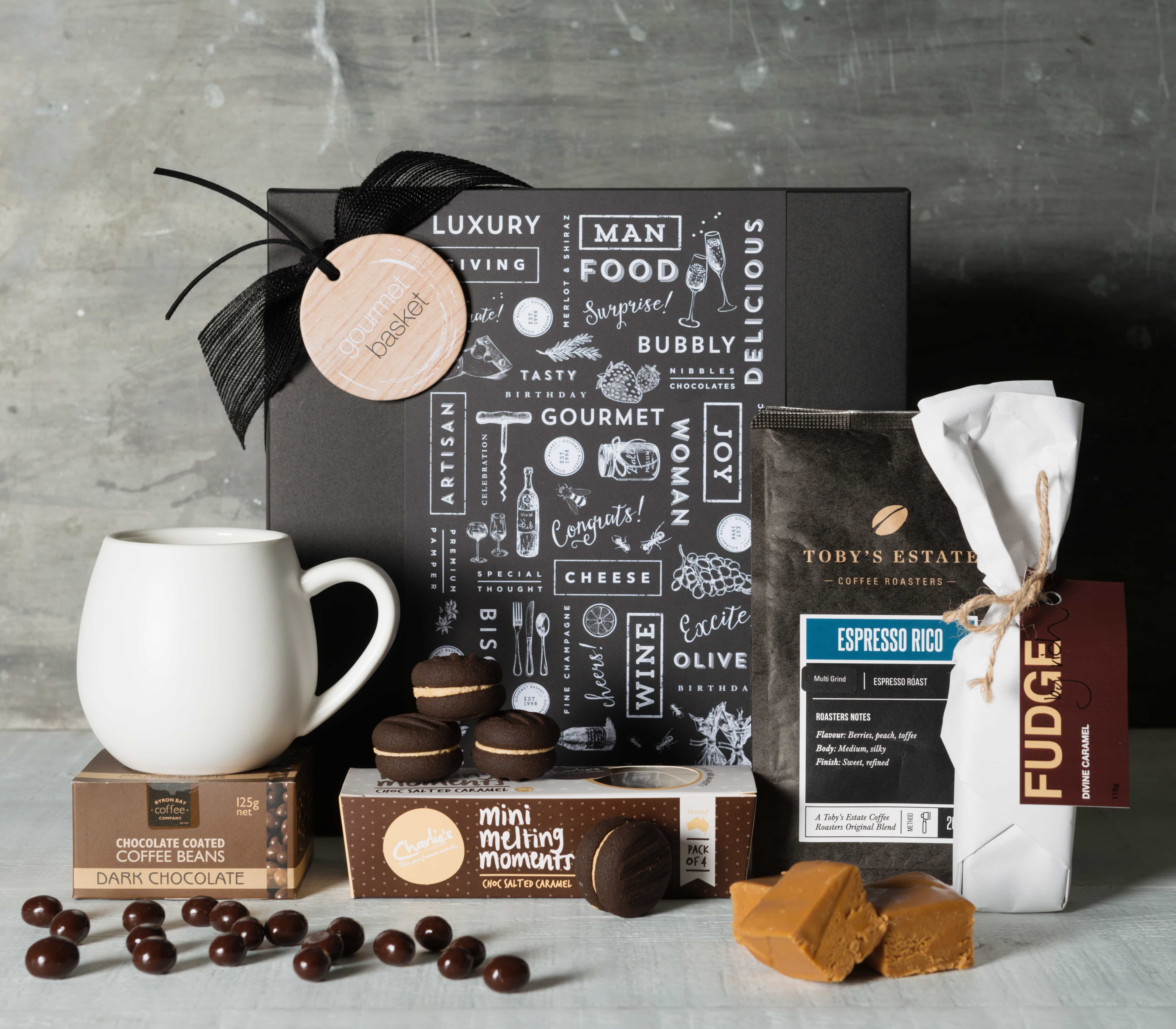 Coffee Lover Gift Basket | Gourmet Food and Wine Gift ...