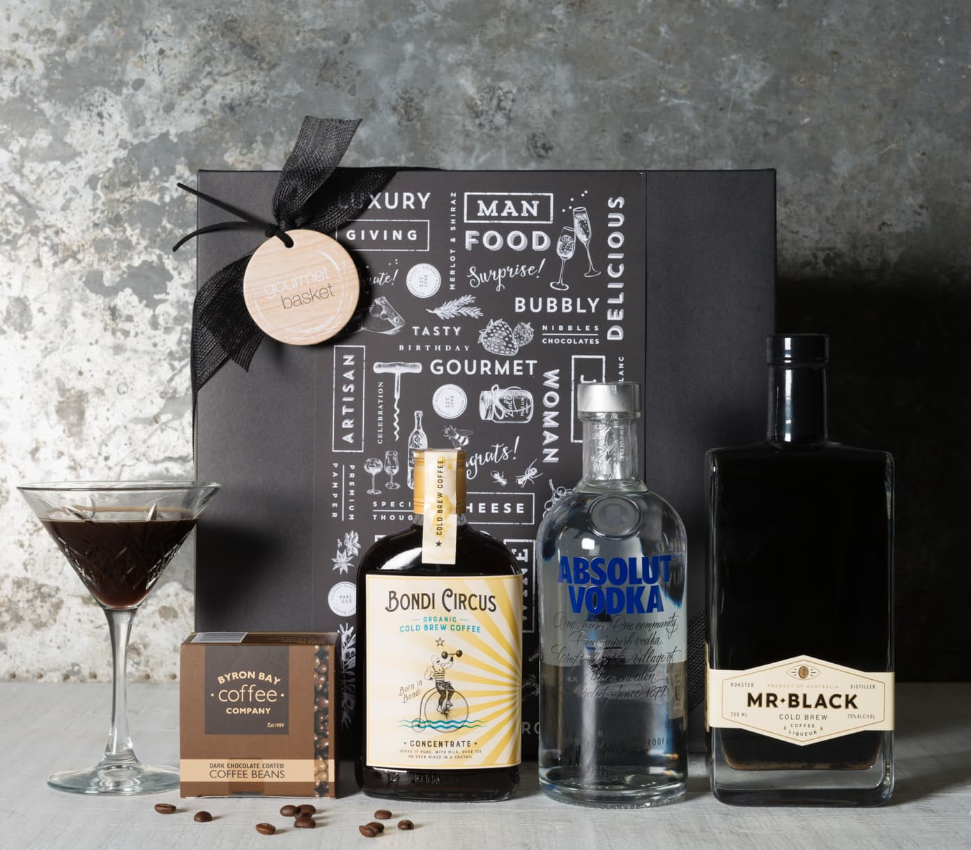 Espresso Martini Cocktail Hamper Gourmet Basket